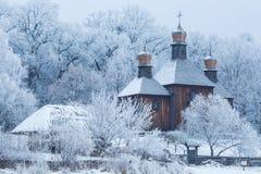 Igreja de madeira velha Imagem de Stock