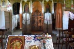 Igreja de madeira velha Imagens de Stock Royalty Free