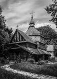 Igreja de madeira velha do medo em Ucrânia Foto de Stock