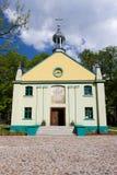 Igreja de madeira velha em Lodz Imagens de Stock