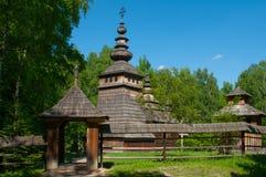 Igreja de madeira velha em Lviv Imagem de Stock Royalty Free