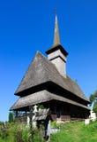 Igreja de madeira velha em Salistea de Sus, Maramures Imagens de Stock Royalty Free