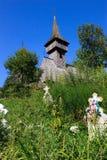 Igreja de madeira velha em Salistea de Sus, Maramures Imagem de Stock Royalty Free