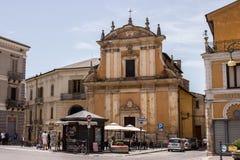 A igreja de Madonna del Carmim, Sulmona, Abruzzo fotografia de stock