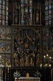 Igreja de Mariacki em krakow Fotos de Stock Royalty Free