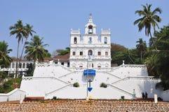 Igreja de Mary Immaculate Conception em Panaji, Goa imagem de stock
