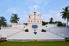 Igreja de Mary Immaculate Conception Panaji, Goa fotografia de stock