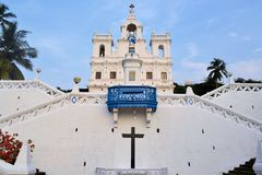 Igreja de Mary Immaculate Conception Panaji, Goa fotos de stock