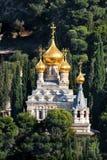 A igreja de Mary Magdalene em Jerusalem, Israel. Fotos de Stock Royalty Free