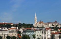 Igreja de Matthias e de torres do pescador arquitetura da cidade de Budapest Fotografia de Stock Royalty Free