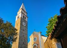 Igreja de Maurus santamente no Eslovênia de Izola fotos de stock royalty free