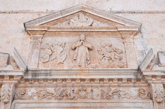 Igreja de mãe de Polignano uma égua Puglia Italy Imagem de Stock Royalty Free