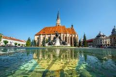 A igreja de Michael em Cluj Napoca fotografia de stock royalty free