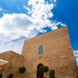 Igreja de Mojacar Almeria Mediterranean na Espanha fotografia de stock royalty free
