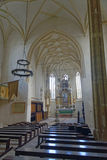 Igreja de Mosna na Transilvânia fotos de stock