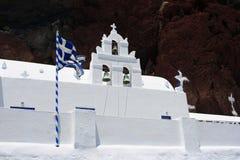 Igreja de Nikolaos dos ágios de Santorini Akrotiri Imagens de Stock