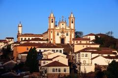 Igreja de Nossa Senhora κάνει την εκκλησία Ouro Preto Βραζιλία του Carmo Στοκ Φωτογραφία
