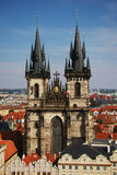 Igreja de nossa senhora antes de Týn Imagens de Stock