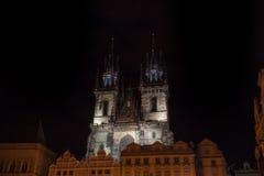 Igreja de nossa senhora antes do ½ n de TÃ em Praga Foto de Stock