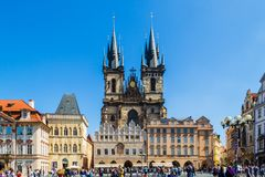 Igreja de nossa senhora Antes Tyn, Praga foto de stock royalty free