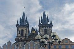 Igreja de nossa senhora Antes Tyn, Praga Imagem de Stock Royalty Free