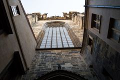 Igreja de nossa senhora antes de Tyn, Praga, república checa Imagem de Stock