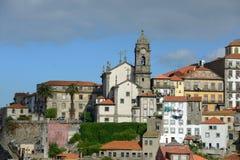 Igreja de Nossa Senhora da Vitória, Porto gammal stad, Portugal Arkivbilder