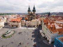 A igreja de nossa senhora de Tyn, Praha foto de stock