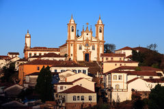 Igreja de Nossa Senhora do Carmo church Ouro Preto Brazil. View of the Igreja de Nossa Senhora do Carmo of the UNESCO world heritage city of Ouro Preto in Minas Stock Photography