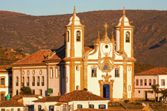 Igreja de nossa senhora do carmo in Ouro Preto. View of the igreja de nossa senhora do carmo of the unesco world heritage city of ouro preto in minas gerais Stock Photos