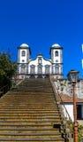 Igreja de Nossa Senhora do Monte, Funchal. Exterior view, burial place of last austro - Hungarian emperor , Charles 1st Stock Photography