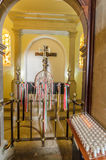 Igreja de Nossa Senhora do Monte, Funchal. Interior, view, burial place of last austro - Hungarian emperor , Charles 1st Royalty Free Stock Images