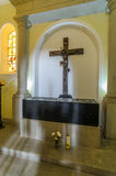 Igreja de Nossa Senhora do Monte, Funchal. Interior, view, burial place of last austro - Hungarian emperor , Charles 1st Stock Photo
