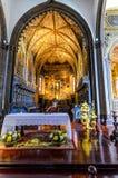 Igreja de Nossa Senhora do Monte, Funchal. Interior, view, burial place of last austro - Hungarian emperor , Charles 1st Stock Photos