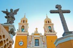 Igreja de nossa senhora dos remédios em Cholula méxico imagens de stock royalty free