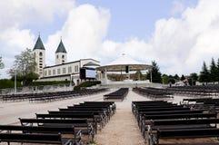 Igreja de nossa senhora em Medjugorje em Bósnia - Herzegovina Imagem de Stock