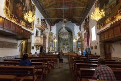 Igreja de Nossa Senhora fa Monte Church Our Lady del supporto in Monte vicino a Funchal sull'isola portoghese del Madera Fotografia Stock