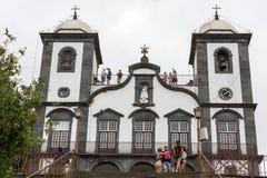 Igreja de Nossa Senhora fa Monte Church Our Lady del supporto in Monte vicino a Funchal sull'isola portoghese del Madera Immagine Stock Libera da Diritti