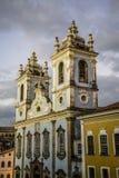 Igreja de Nossa Senhora gör Rosà ¡ rio DOS Pretos, Pelourinho, Salvador, Bahia, Brasilien royaltyfri fotografi