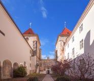 A igreja de nossa senhora sob a corrente, Praga Imagens de Stock