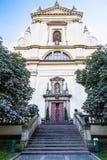 Igreja de nossa senhora Victorious em Mala Strana Fotografia de Stock