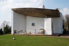 A igreja de Notre Dame du Haut, Ronchamp Imagem de Stock Royalty Free