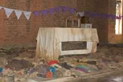 Igreja de Nyamata imagens de stock