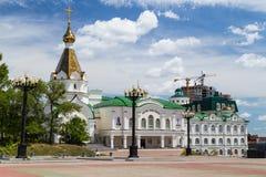 Igreja de Orhodox do russo em Khabarovsk Imagem de Stock