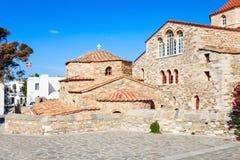 Igreja de Panagia Ekatontapyliani, Paros Fotografia de Stock