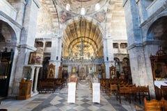 Igreja de Panagia Ekatontapyliani, Paros Imagens de Stock