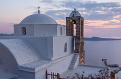 Igreja de Panagia Thalassitra, Milos console, Greece Foto de Stock Royalty Free