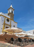 Igreja de Parroquia de las angustias em Ayamonte, a Andaluzia, Espanha Fotografia de Stock Royalty Free