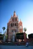 A igreja de Parroquia de San Miguel de Allende, Guanajuato, México Imagem de Stock