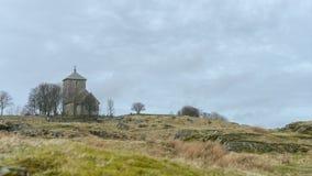Igreja de pedra em Noruega Fotografia de Stock